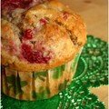 Muffins au levain et aux framboises (de la St Patrick ...)