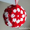 faire une boule au crochet, diy crochet nol, boule de nol laine, boule de nol granny