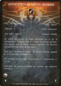 Pantin Morbide 01 - Invocation de pantin morbide (sortilège)