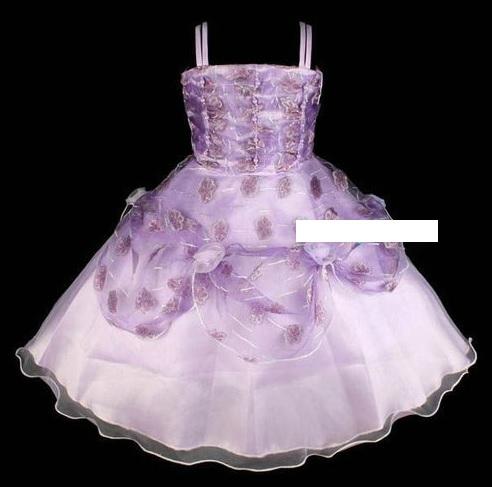 """robe de fillette """"Colchique"""" 6/7 ans violette neuve"""