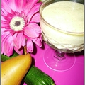 Mousse super légère poire courgette et tofu soyeux
