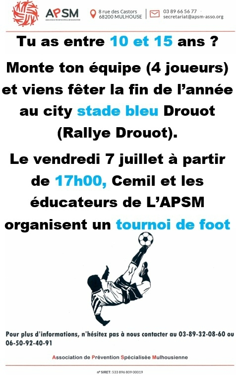 Quartier Drouot - Tournoi de foot