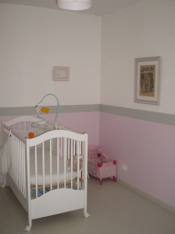 Chambre b b fille maman bricole for Photo de chambre de bebe fille