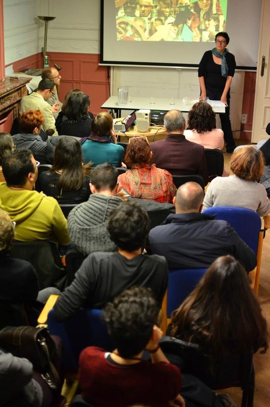 Rencontre au MRAX le 21 octobre 215 (photo de Simon Blackley)