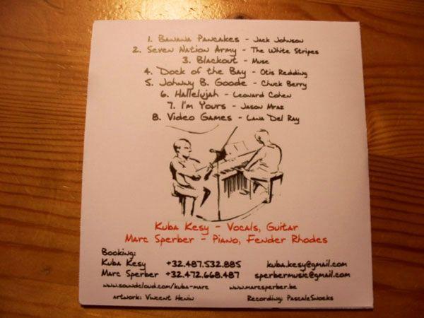 Pochette '1+1' Kuba Kesy - Marc Sperber - cover Vincent Henin-Vhenin