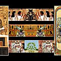Marque-pages avce chats, inspiration egypte ancienne