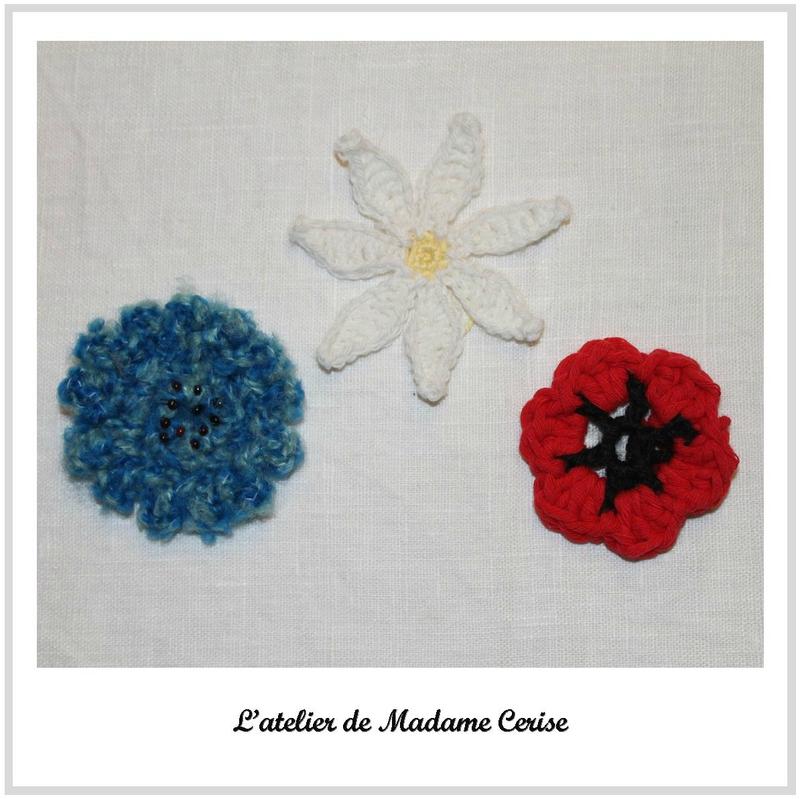 fleurs bleu-blanc-rouge carré