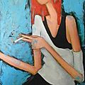 portrait de femme capucine