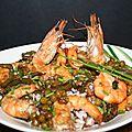 Salade de 3 riz aux gambas ou grosses crevettes