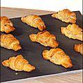 Petits croissants feuilletés saumon et boursin