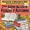 Feuilles d'automne 2016 - salon du livre de marvejols