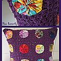 yo-yo granny cushion