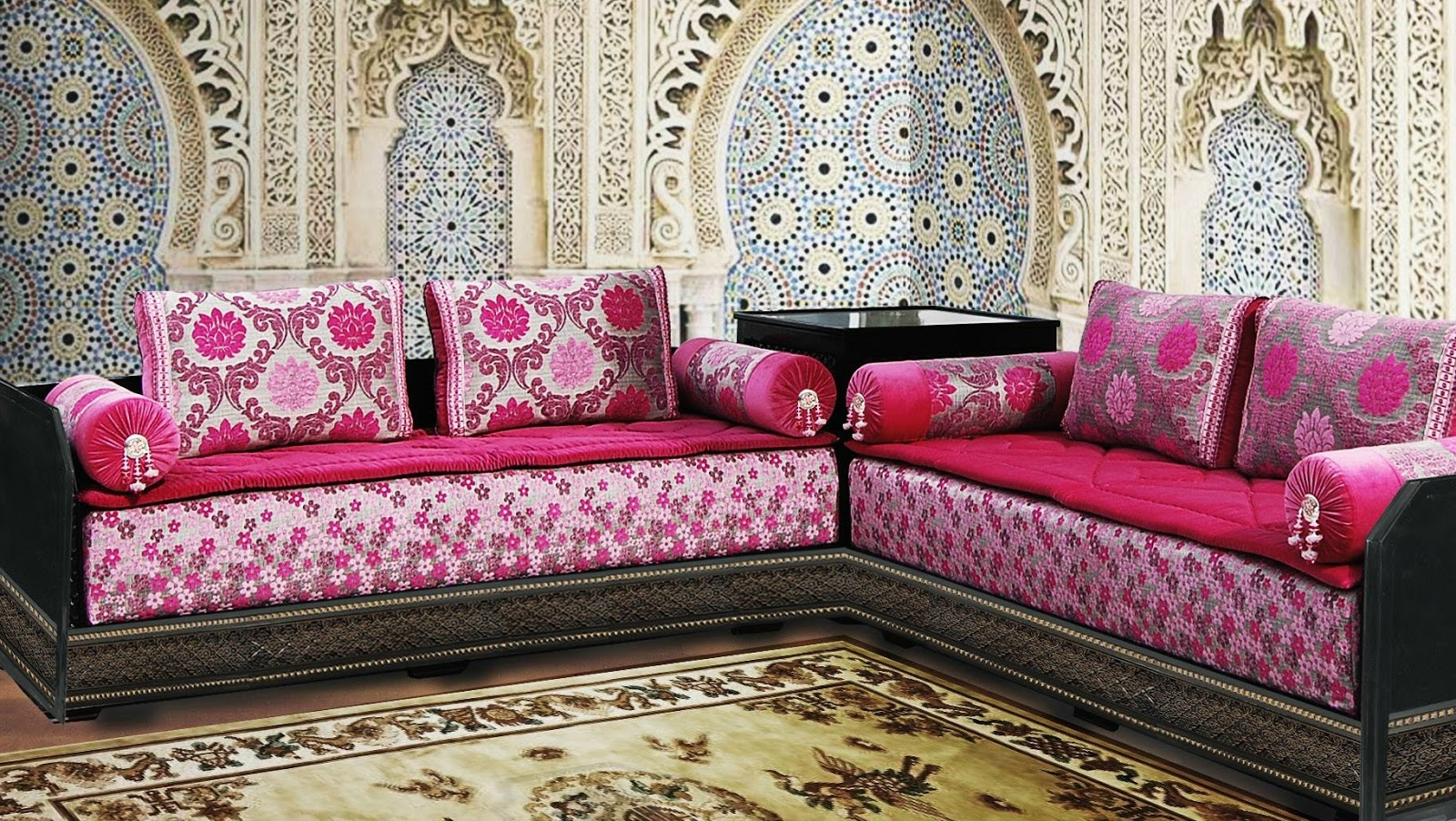 salon marocain design 2017 richbond decoration salon maroc. Black Bedroom Furniture Sets. Home Design Ideas