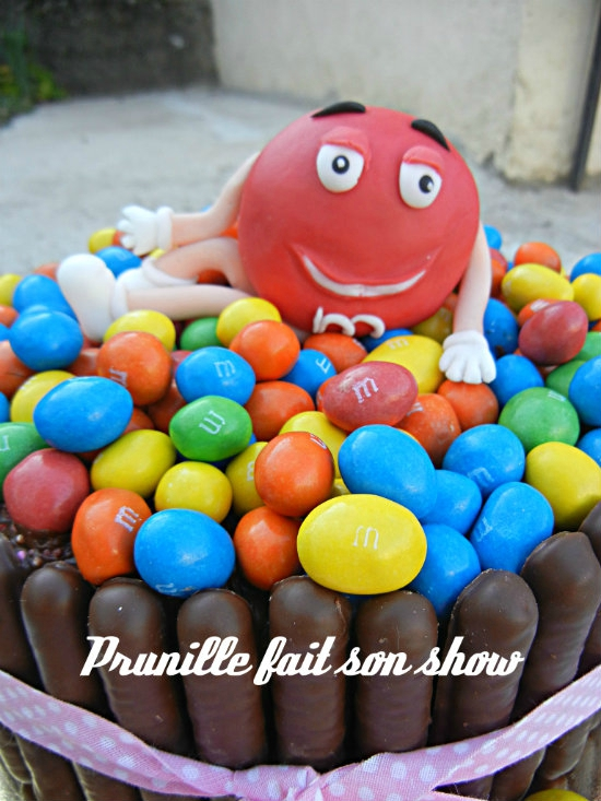 gateau m&m's prunillefee