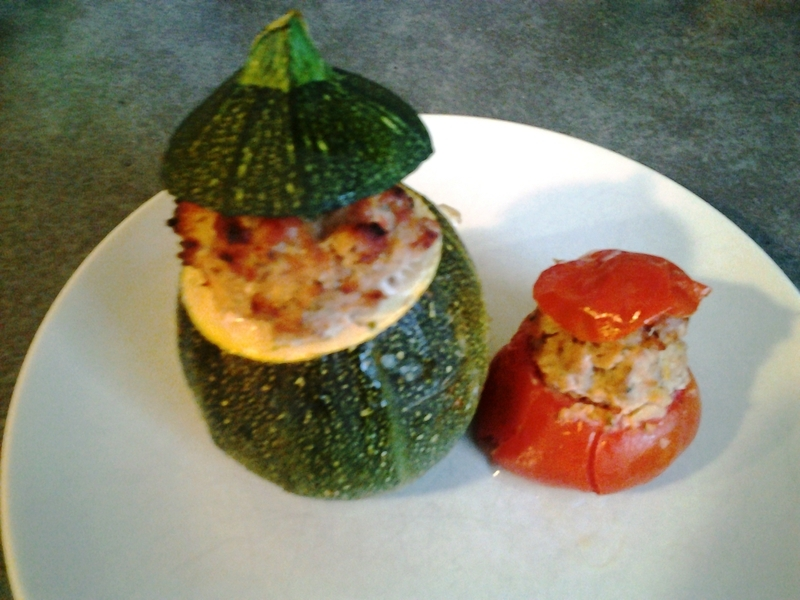 Courgette ronde et tomate farcis