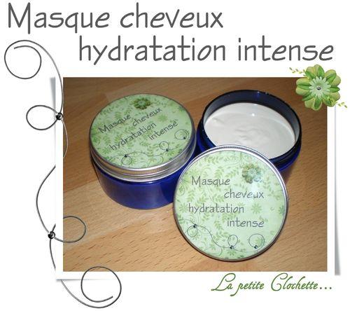 Masque cheveux hydratation intense