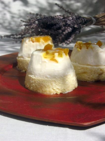 Panna cotta de melon confit sur mousse de calissons (Le chaudron d'une fée)