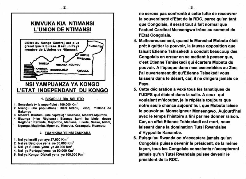 LE GRAND MAITRE DE LA SAGESSE KONGO PARLE DU ROLE DU CARDINAL MONSENGWO PASINYA DANS LA RDC b
