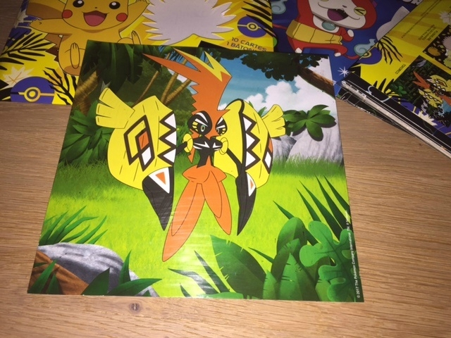 cartes à gratter pokémon yo kai watch 1