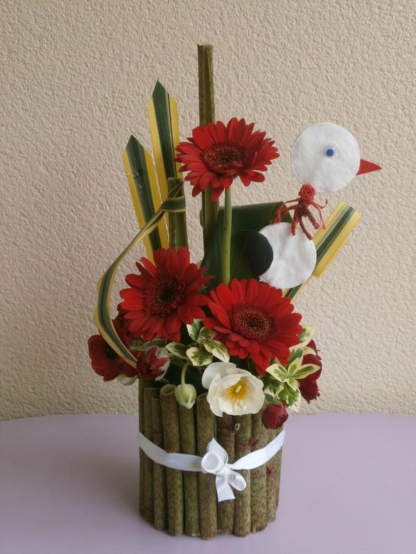 bouquet d 39 anniversaire le caf fleurs de jo lle. Black Bedroom Furniture Sets. Home Design Ideas
