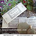 Marimerveille collection jardin intérieur éttiquettes anciennes N°1
