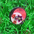 Une bague métal 1, rose et fleur