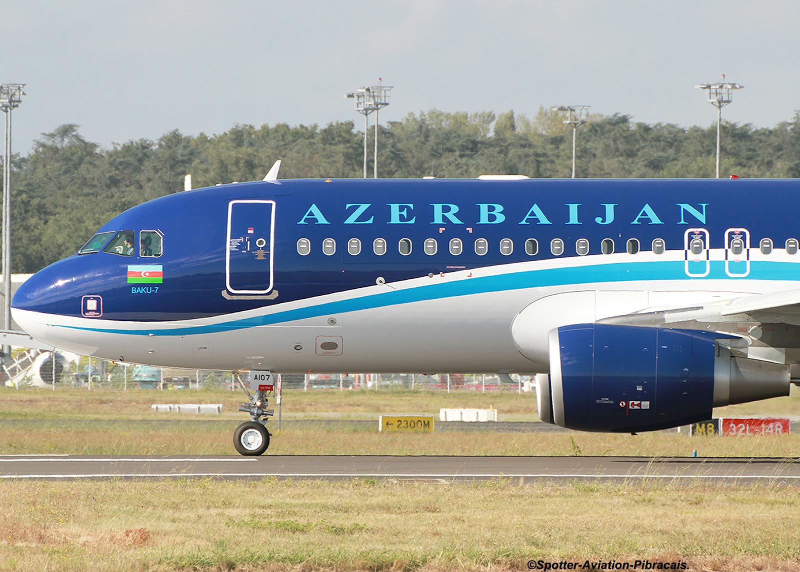 A roport toulouse blagnac tls lfbo azal azerbaijan airlines airbus a320 214 4k a107 f - Aeroport blagnac adresse ...