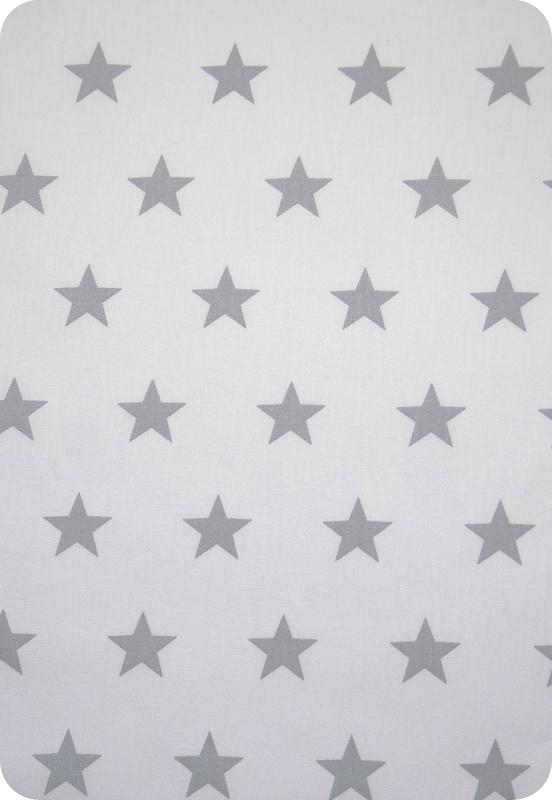 tissu blanc étoile grise