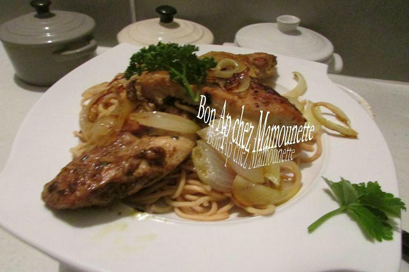 Filets de poulet fermier au massalé et ses pâtes asiatiques 006