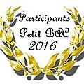 Les participants au petit bac 2016
