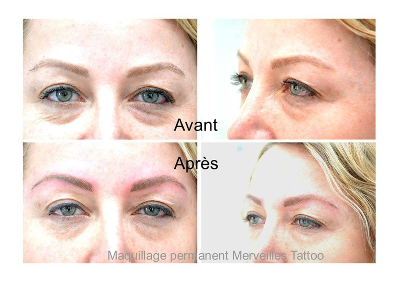 tattoo sourcil poil à poil, maquillage permanent blond