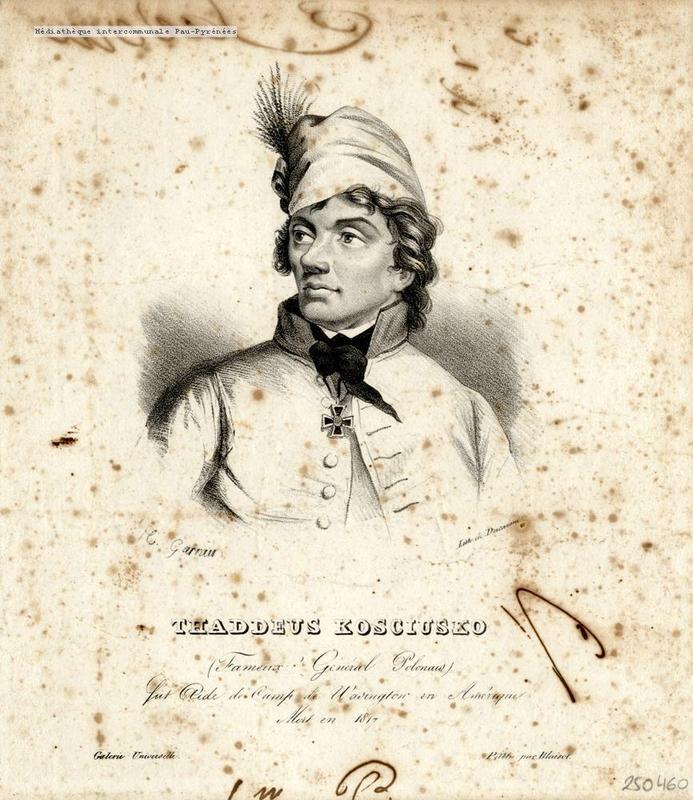 thaddeus kosciusko (1746-1817) 19e litho