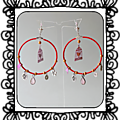 Boucles d'oreilles Red bird