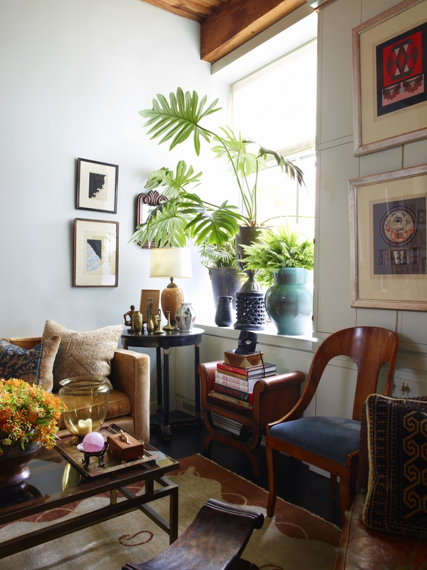 living-room-artwork-on-wall-plants-in-window-eclectic-alexandra-loew