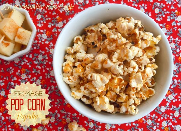 pop corn fromage paprika