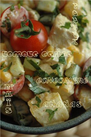 Salade_poulet__ananas__mais__concombre__tomate__curry__coriandre_4