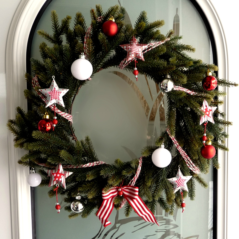 Diy couronne de no l miaouuu - Creation couronne de noel ...