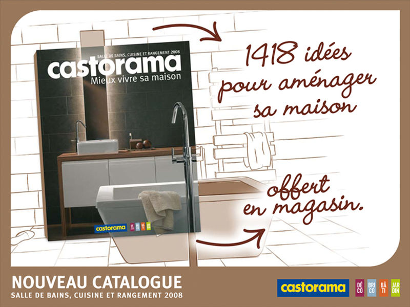 lancement catalogue am nagement photo de campagne catalogue castorama artdirectorz. Black Bedroom Furniture Sets. Home Design Ideas