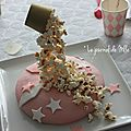 ▼▲▼ gravity cake pop corn / zebra pink cake ▼▲▼ circus girly party ▼▲▼