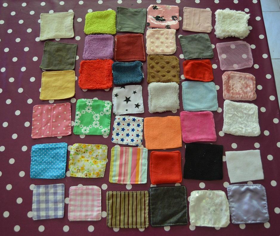 Activit s montessori 5 jeu des textures une ame d 39 enfant - Les couleurs de tissus ...