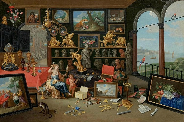 Jan Van Kessel the elder (1626 Antwerp 1679), An Allegory of Sight ...