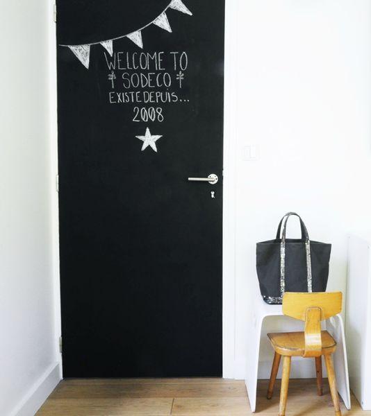 j 39 ai peint ma porte avec de la peinture ardoise coach deco lille. Black Bedroom Furniture Sets. Home Design Ideas