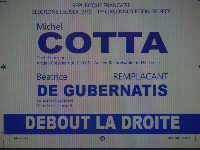 BEATRICE ET MICHEL COTTA SUR LA 1ère CIRCONSCRIPTION DE NICE (2)