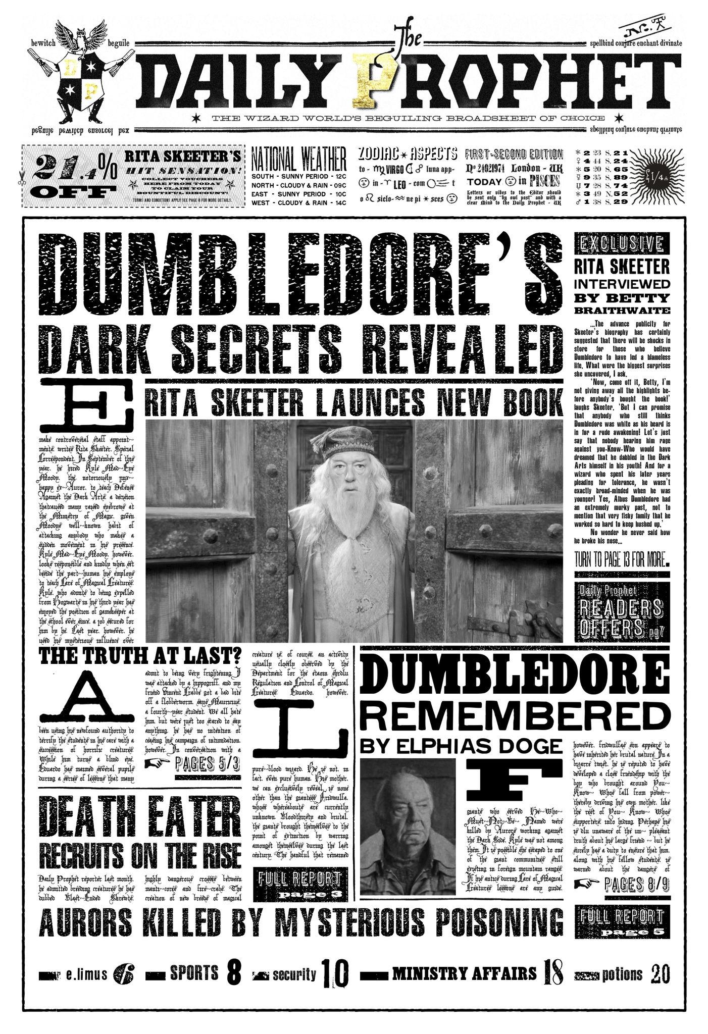 Gazette - Recréons notre univers Harry Potter
