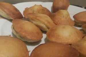 Assiette de madeleines