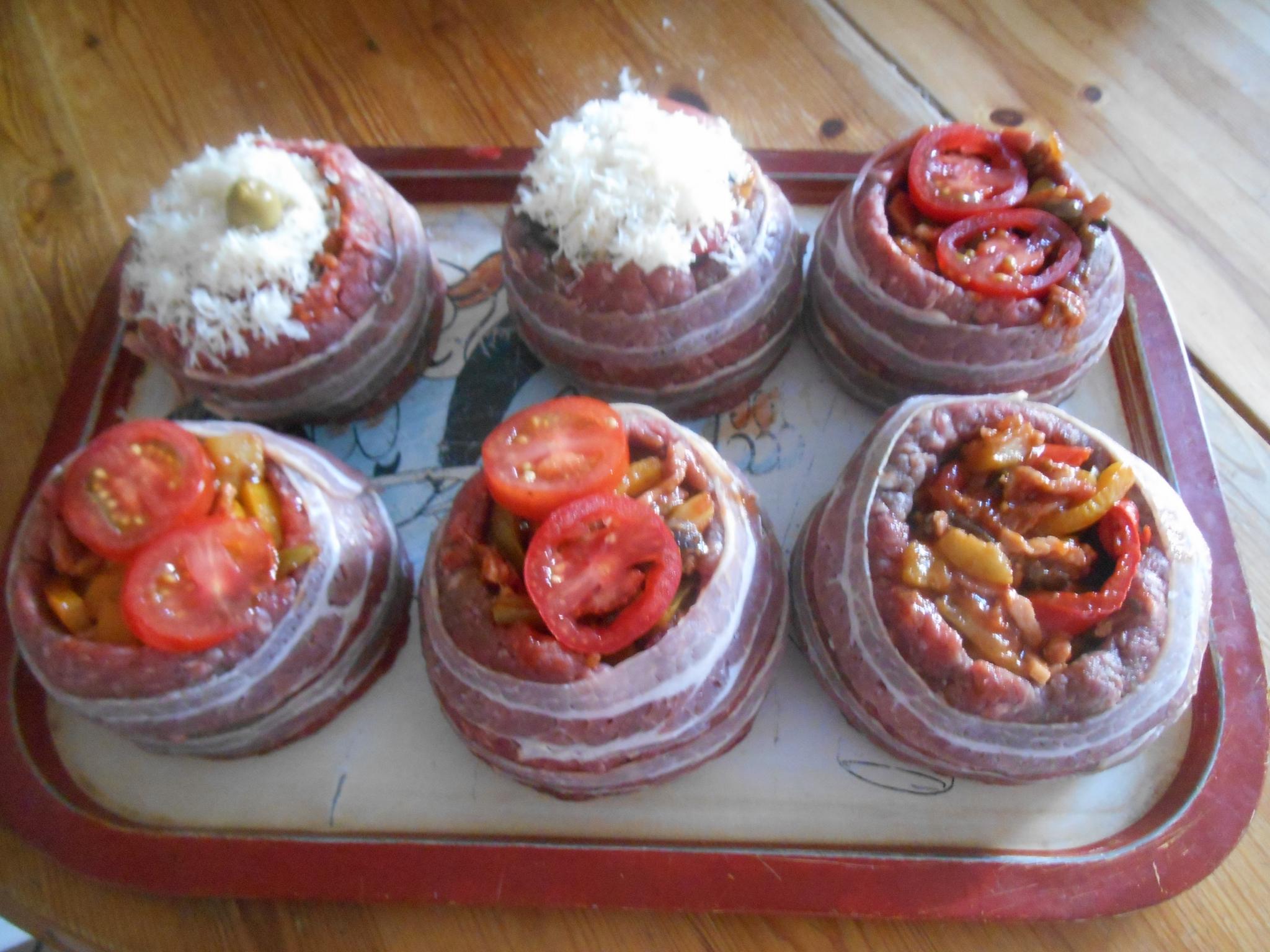 Rond de viande hachee farci de legumes cuit au barbecue - Cuisiner viande hachee ...
