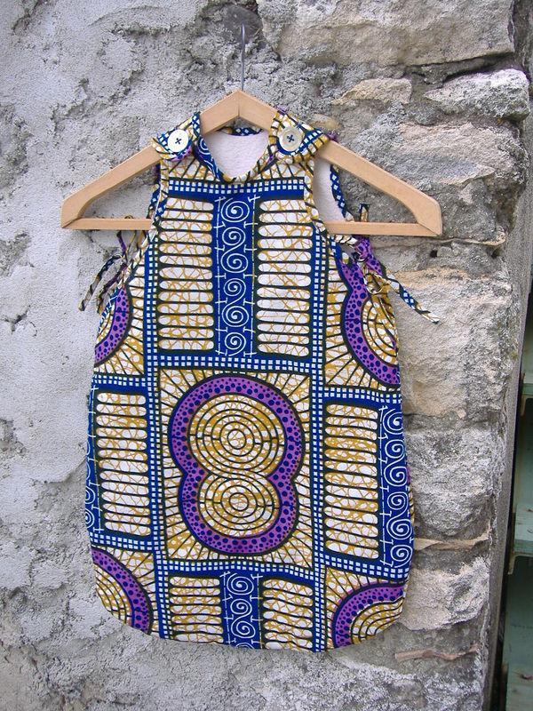 Turbulette taille 6mois, tissu motif africain