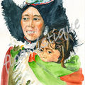 carte n° 21 - femme et son bébé