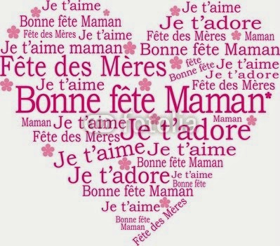 COEUR BONNE FETE MAMAN INSPIRATION CARD CITATION POEME QUOTE