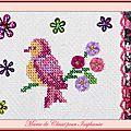 Échange ATC Perso (Les Oiseaux) Marie de Clessé pour Isaphanie (1)